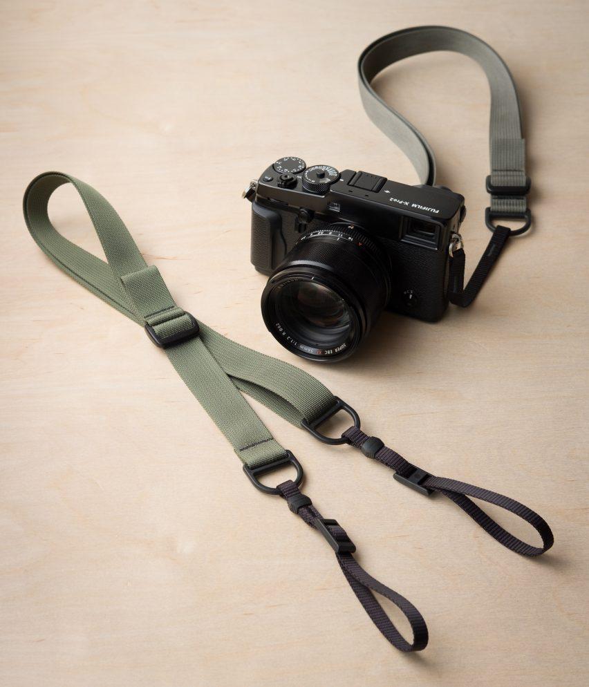 F1 Sling-Style Camera Strap, Grey in Fuji X-Pro2
