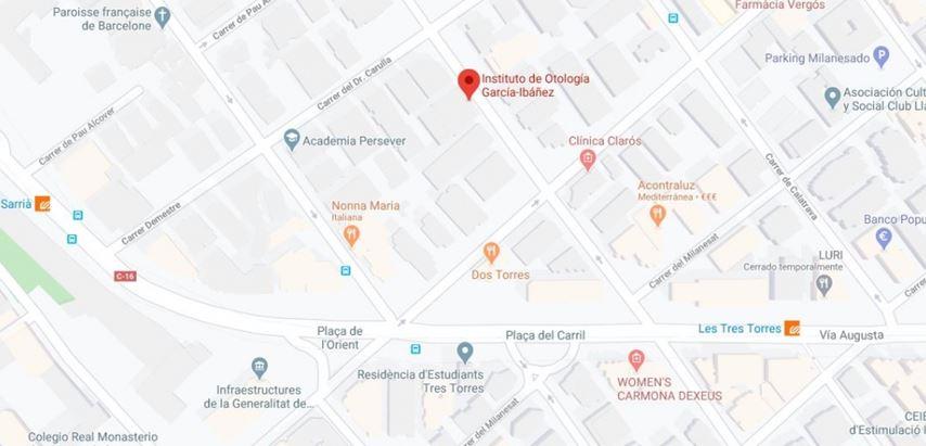 Institut García-Ibáñez - Barcelone, Espagne - Clinique otorhinolaryngologie ORL - Maladies de l'oreille, nez, larynx et gorge (cou)