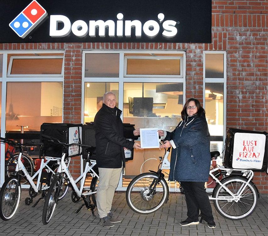 """Domino's Pizza Flensburg erhält die Auszeichnung """"Flensburgs Klimaschützer"""""""