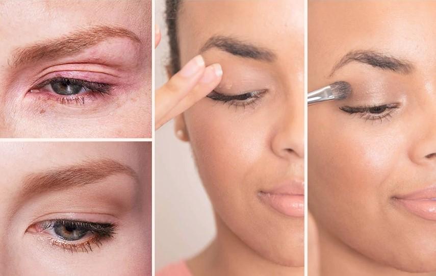 Applying eye primer