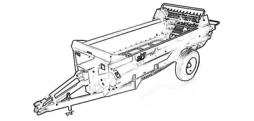 PTO Manure Spreader, 125 cu ft – Horse Manure Spreader
