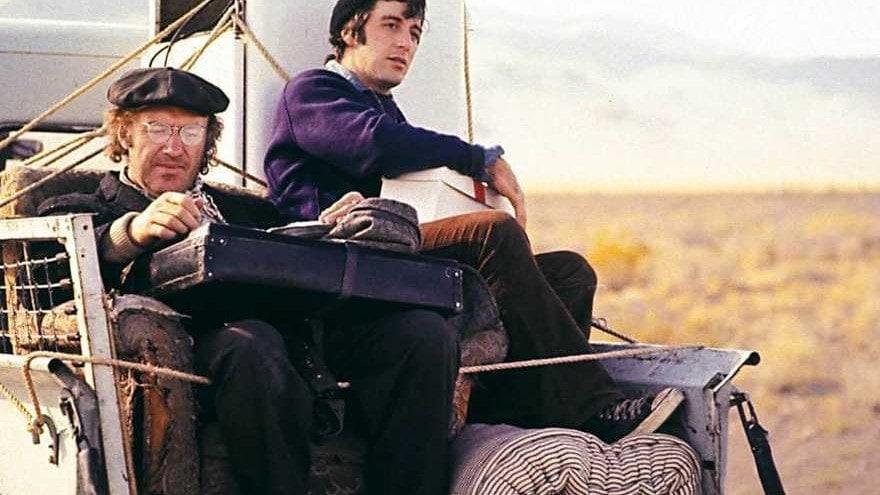 Gene Hackman et Al Pacino dans L'épouvantail