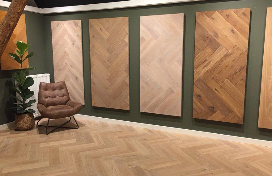 Showroom visgraat vloeren Dutzfloors