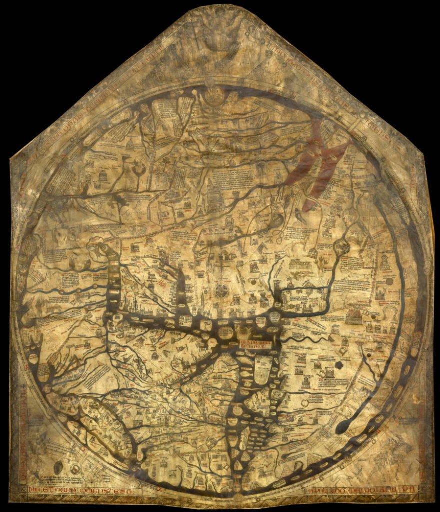 Hereford Mappa Mundi es el mapa medieval más grande conocido