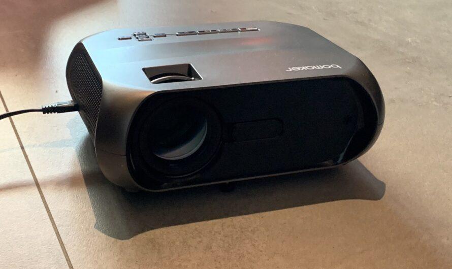 BOMAKER Native 720P Mini Beamer Test