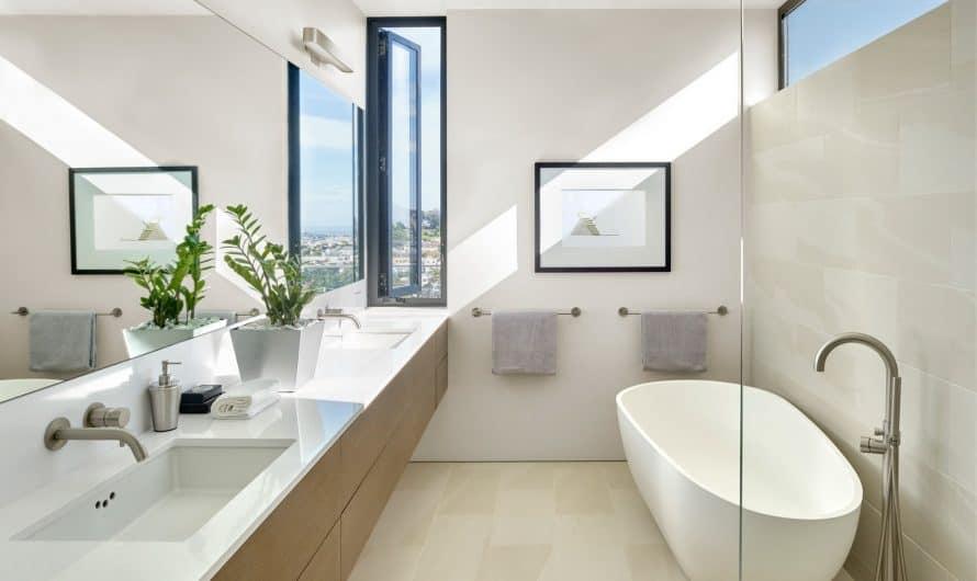 Как оформить дизайн узкой ванной комнаты