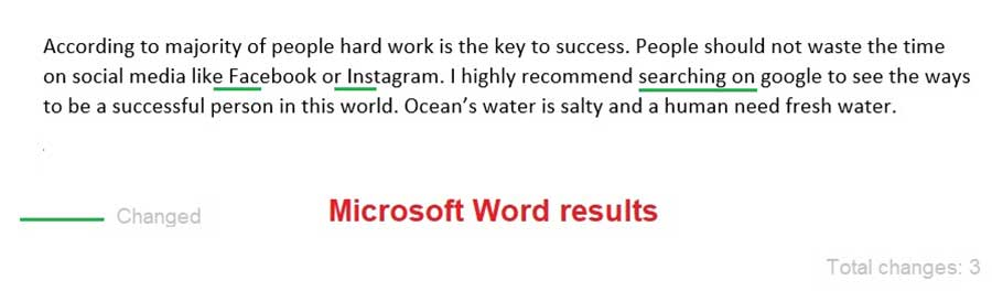 Microsoft Word Test Results 2