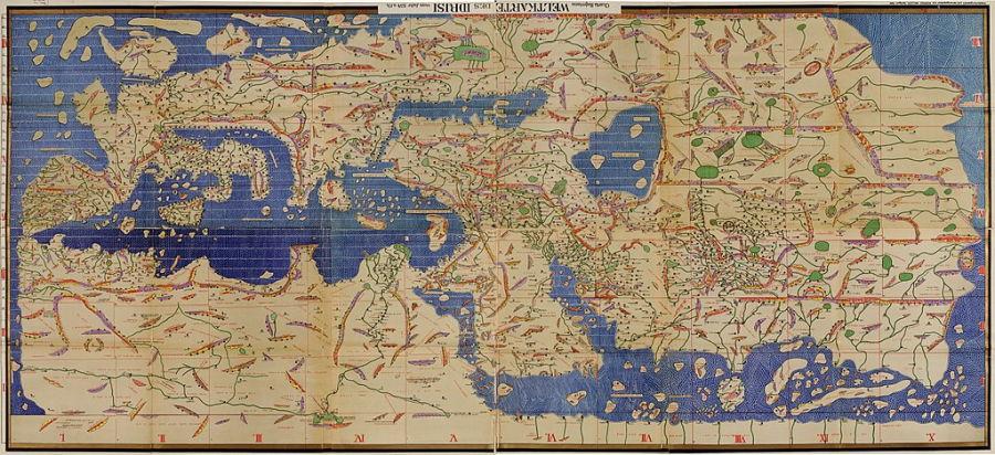 Tabula Rogeriana fue comisionada por el rey normando Roger II