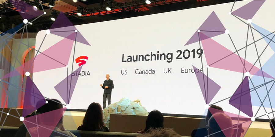 Google vice-president Phil Harrison at Google keynote announcing Stadia launch
