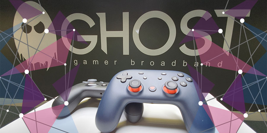Two Stadia controllers in Ghost office