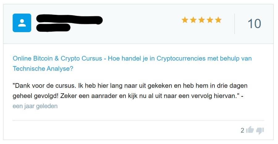 cursus handelen in crypto's review