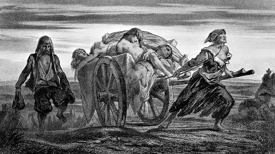 Representación del desastre de la Peste Negra