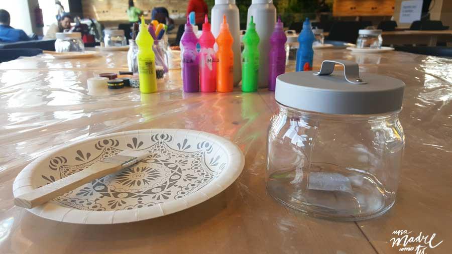 pintar botes de cristal Ikea