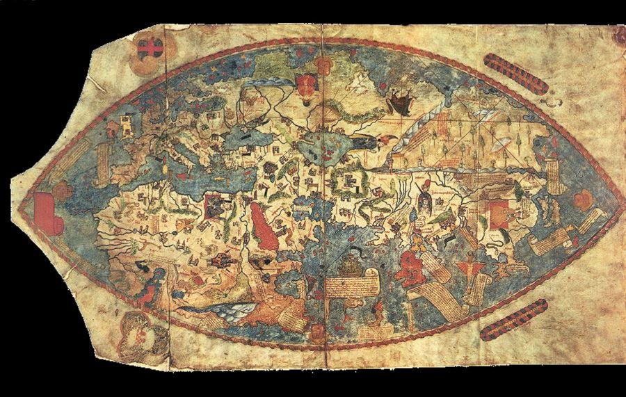 El mapa del mundo genovés se basó en el trabajo del explorador Niccolo Da Conti