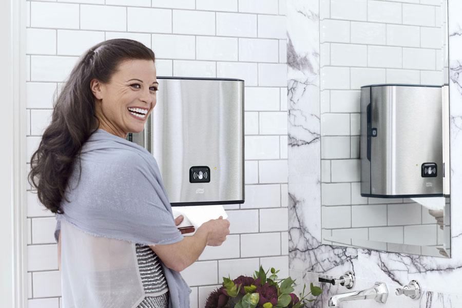 Waschraumausstattung für die Hotellerie Tork Image Design