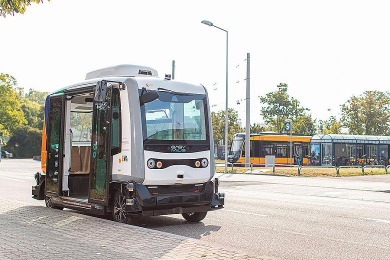 беспилотные автобусы в Карлсруэ, Германия Foto: пресс-служба VBK