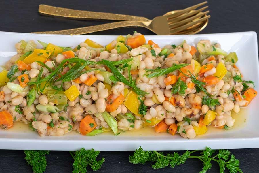 warm bean salad side