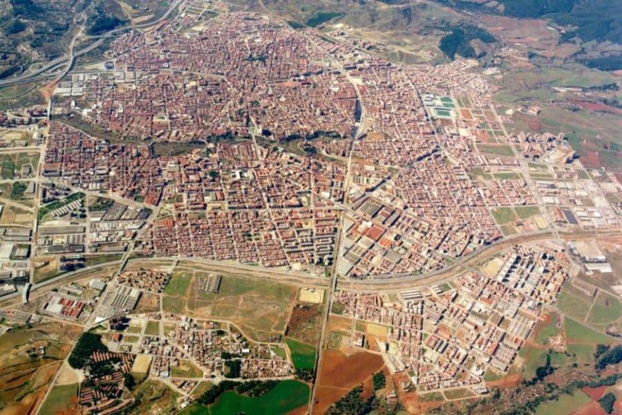 Vista aérea de los barrios de Terrassa