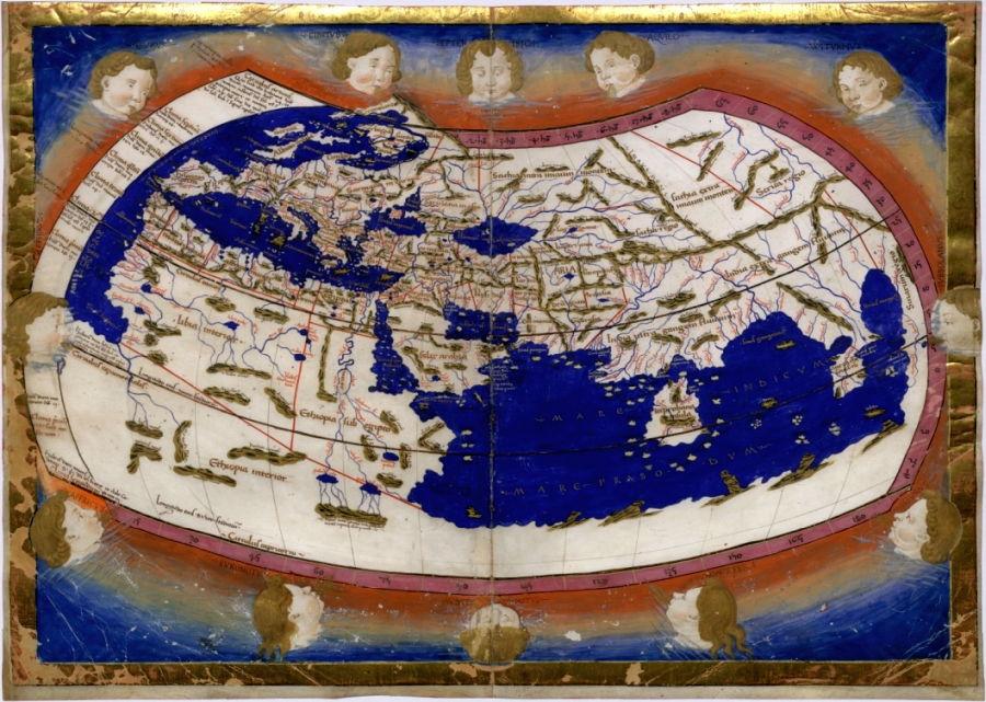 El mapa de Ptolomeo fue el primero con longitud y latitud