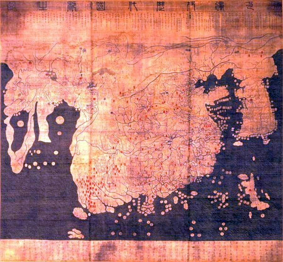 El mapa de Kangnido amplía su país de origen