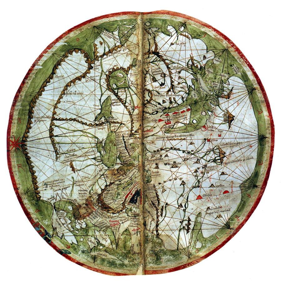 El mapa de Pietro Vesconte está entre las primeras representaciones náuticas precisas