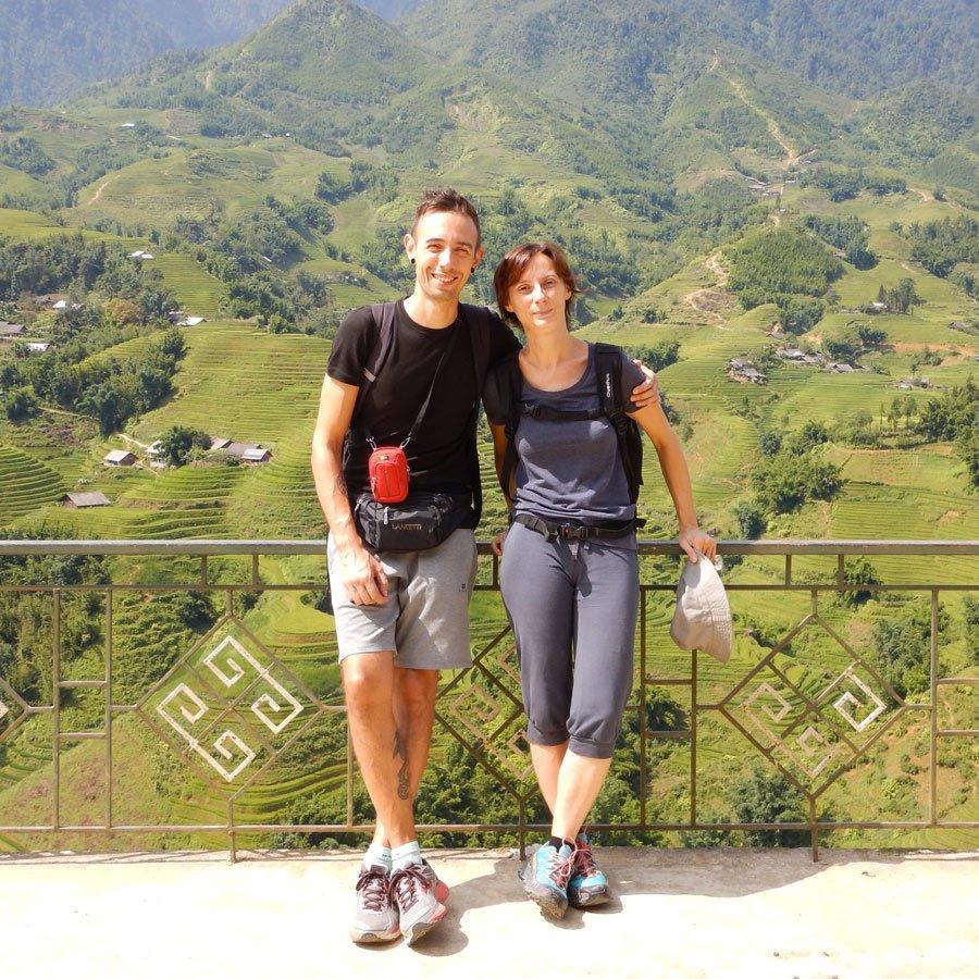 Elisa e Luca a Sa Pa, Vietnam