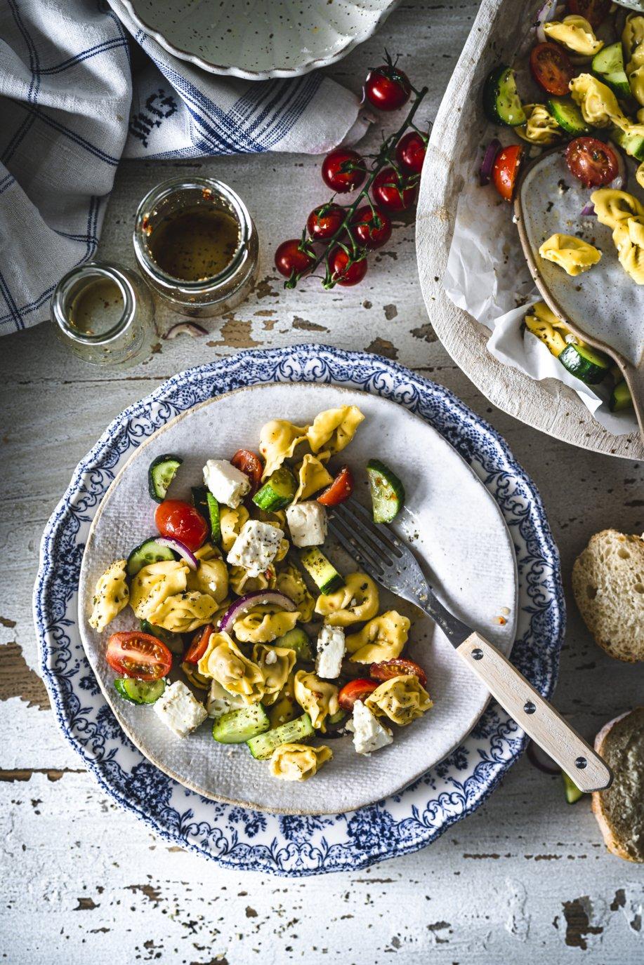 Tortellinisalat mit Feta