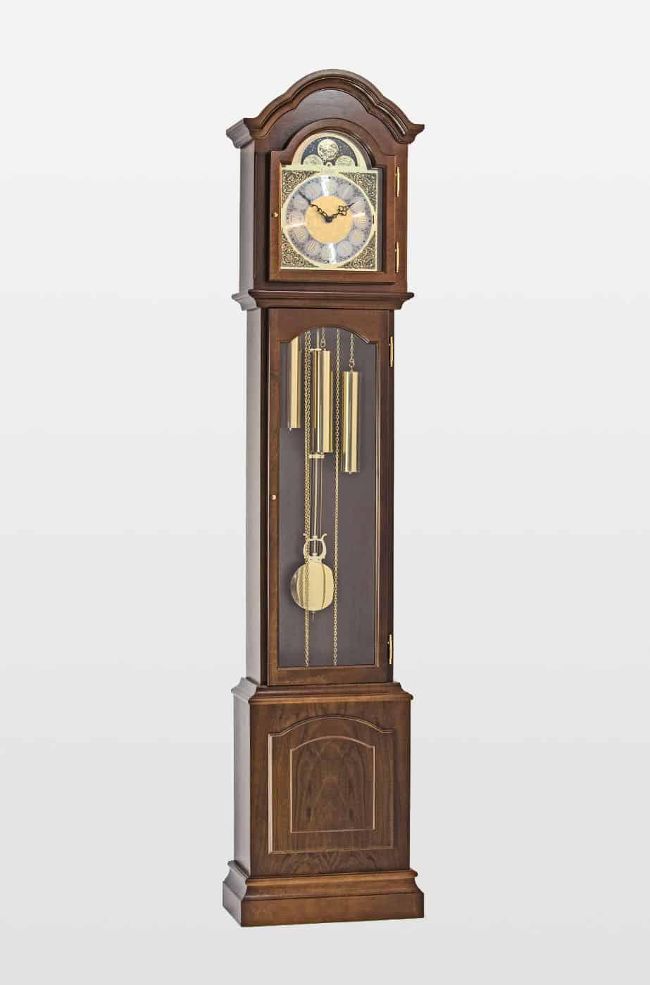 Glenhaven Grandmother Clock In Walnut Finish