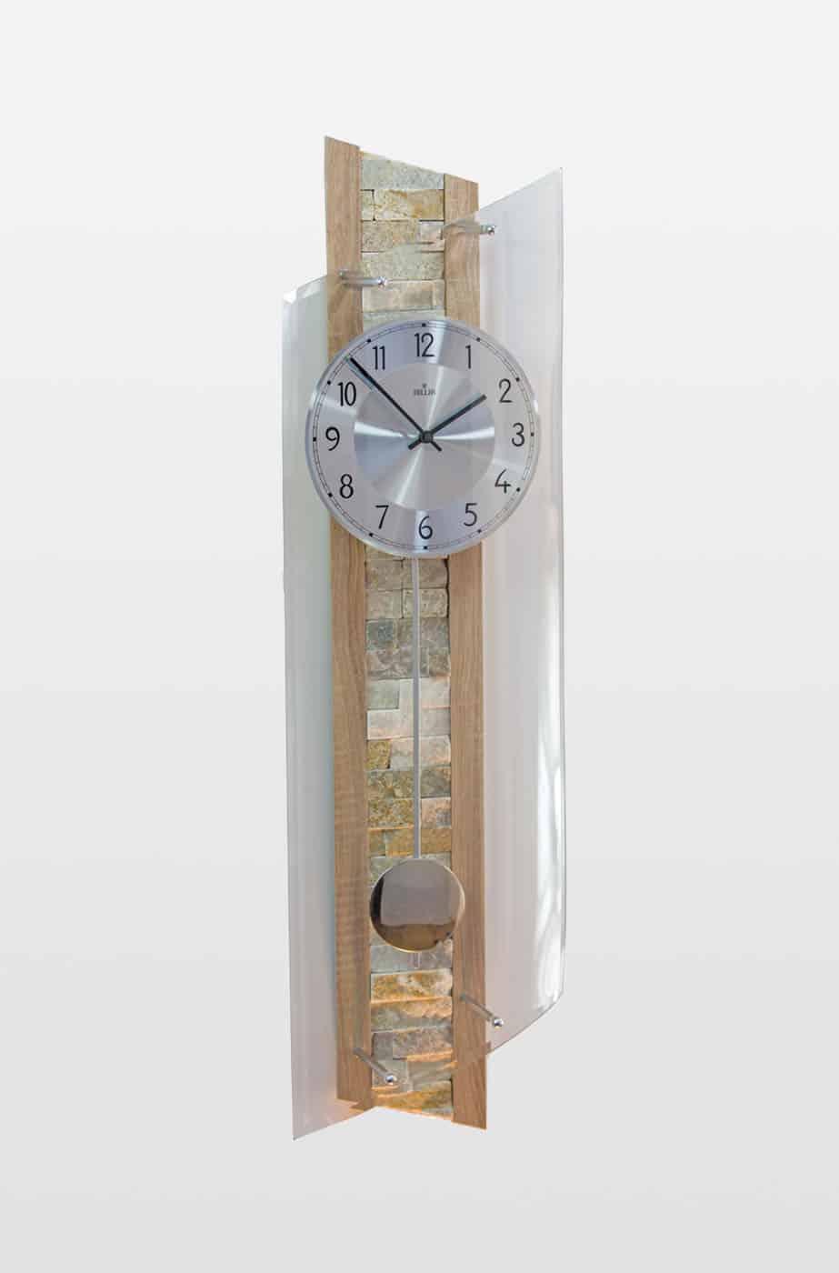 QC 9141 Stylish Tiled Radio Controlled Wall Clock