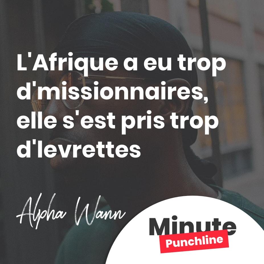 L'Afrique a eu trop d'missionnaires, elle s'est pris trop d'levrettes