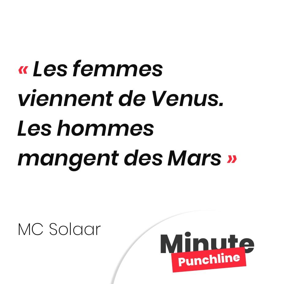 Les femmes viennent de Venus. Les hommes mangent des Mars