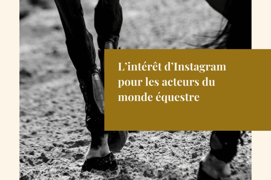 L'intérêt d'Instagram pour les acteurs du monde équestre