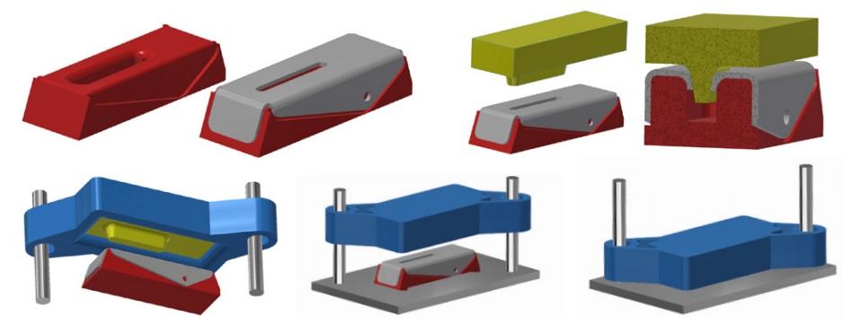 Процес штампування деталі штампом, надрукованим на 3d принтері