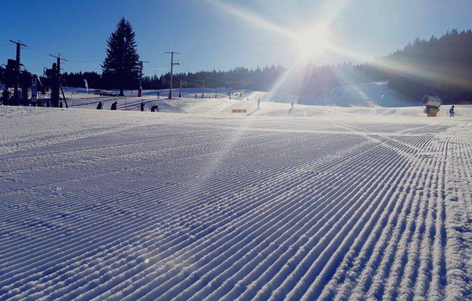 Cañones de nieve en Métabief