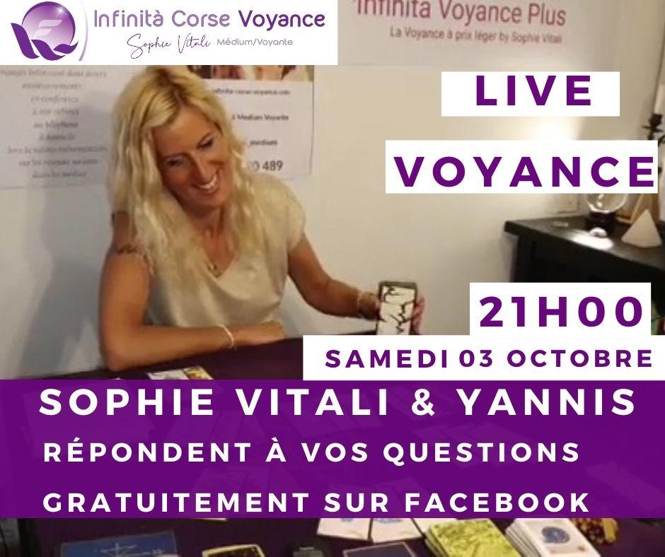 Live voyance gratuit sur Facebook avec Sophie Vitali médium