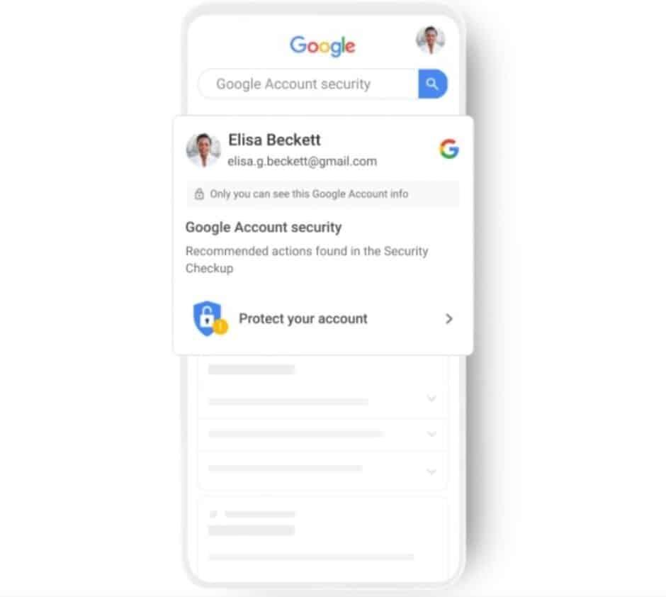 Google alertas de segurança
