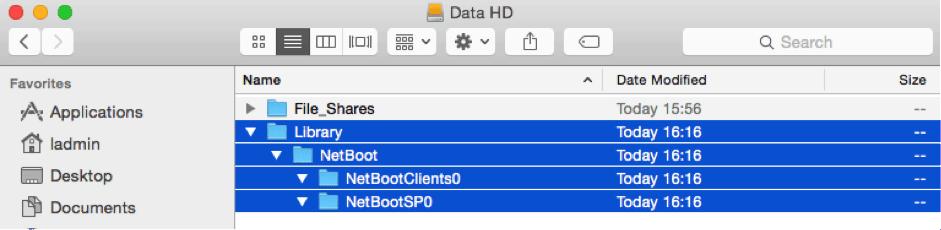 DS - 3 - NEtboot folders