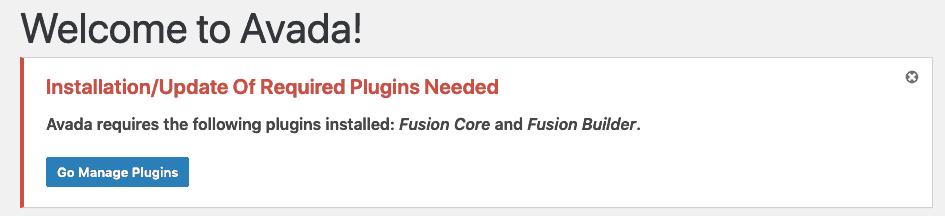 Avada Required Plugins