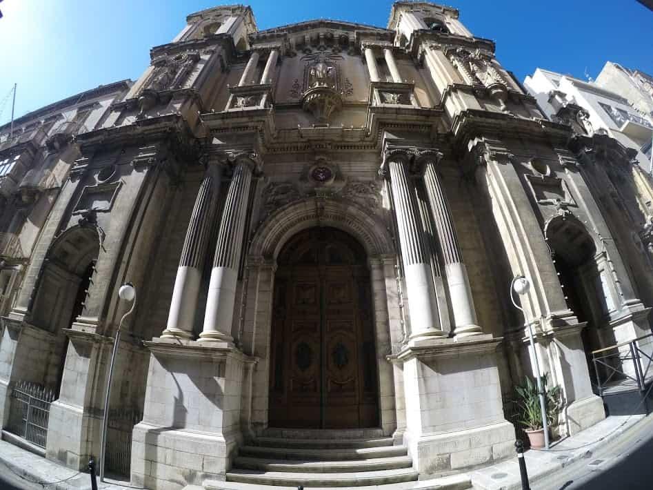 St. Paul's church Valetta outside