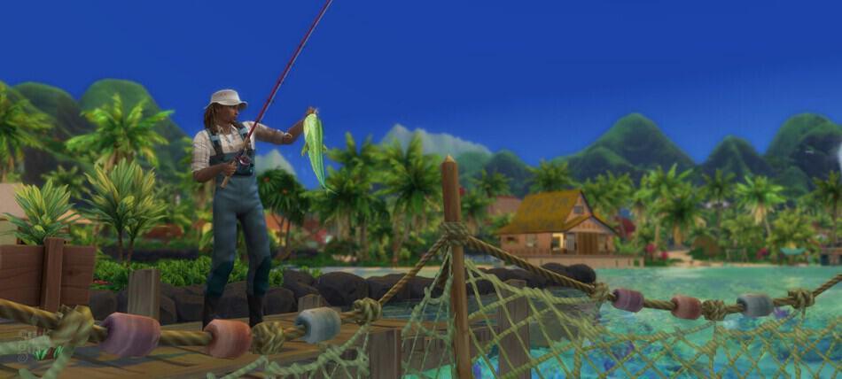 Profesión pescador Los Sims 4 Vida Isleña