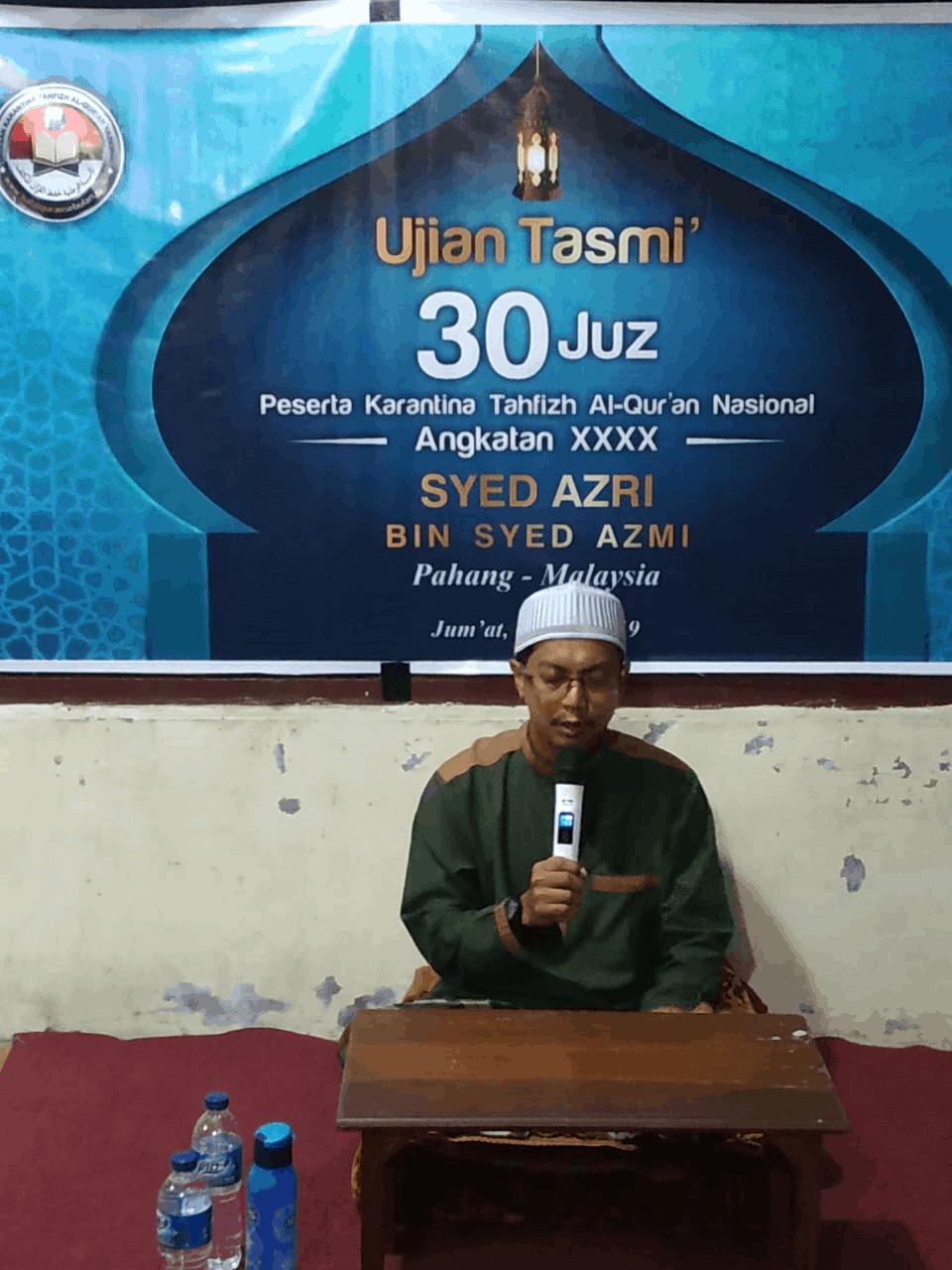 Menghafal Quran di pusat karantina tahhfizh al-quran nasional