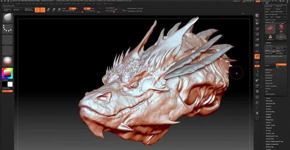 Обзор программы ZBrush 3D модель