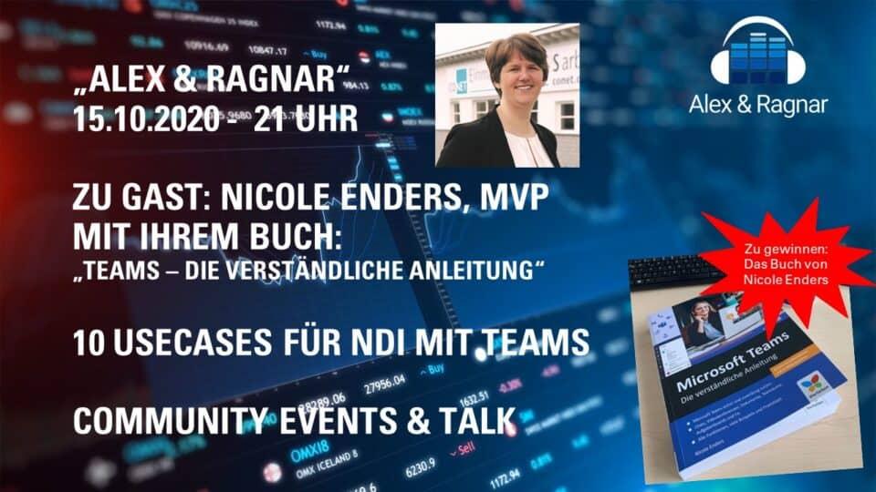 Alex & Ragnar Video Live Stream zum neuen Microsoft Teams Buch mit Nicole Enders: 15.10.2020