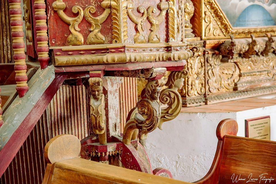 Detalle de los trabajos de restauración