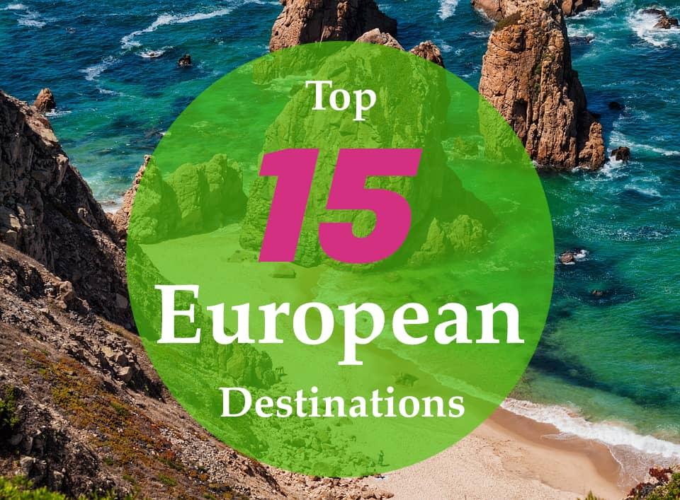 15 destinations europe