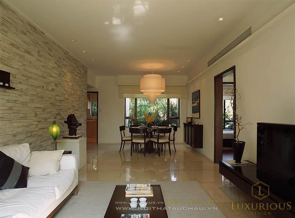 Thiết kế thi công nội thất biệt thự 2 tầng mái thái