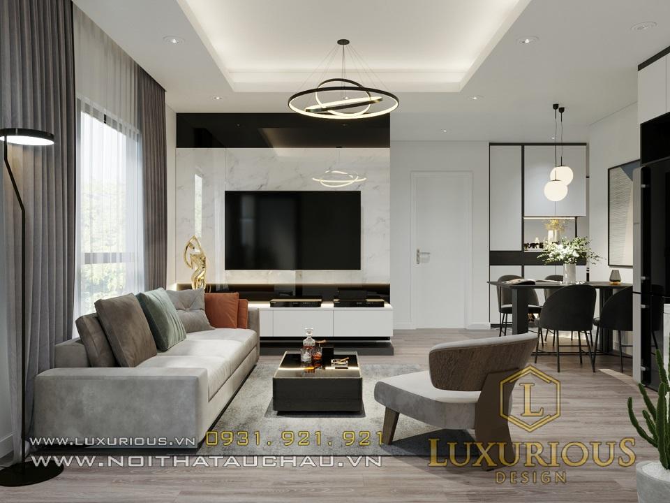 Thiết kế nội thất căn hộ chung cư Samsora Prermier 70m2