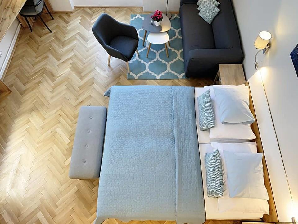 Marienbad Apartment Mariánské Lázne Park view main bed