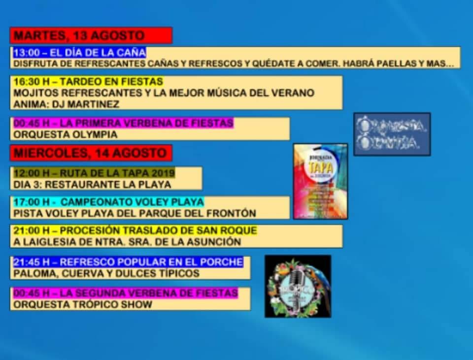 13 y 14 de agosto de las fiestas de Jorquera