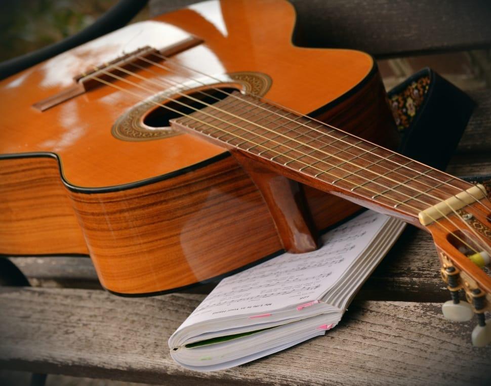 Guitare classique et partition